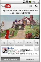 Screenshot of Cuentos