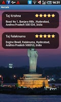 Screenshot of Hyderabad Travel Guide