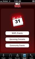 Screenshot of 105.7 WAPL