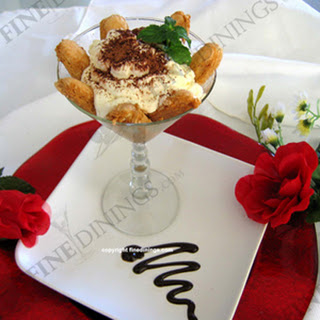 Tiramisu in a Martini Glass