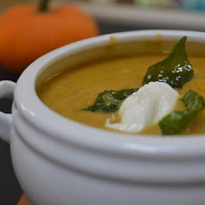 Roasted Pumpkin, Sesame & Coconut bisque