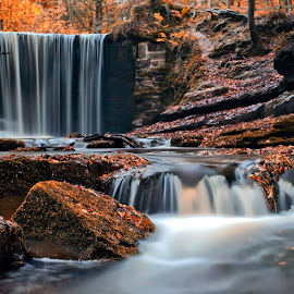 Plas Power Falls ..... by Darrell Bate - Landscapes Waterscapes ( canon, lee filters, nd filters, wales, waterfall, slow shutter )
