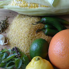 Cracked Wheat & Corn with Thai Basil, Citrus & Chiles