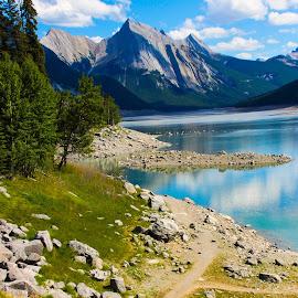 Jasper National Park by Carla Chidiac - Landscapes Travel ( mountains, alberta, canada, beautiful, rocky mountains, blue water, lake, rockies, travel, landscapes, jasper national park )