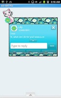 Screenshot of GO SMS - Minty Miss Priss