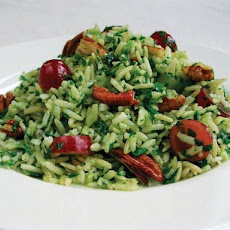 Mollie Katzen's Green Rice with Grapes and Pecans