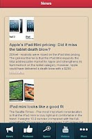 Screenshot of iPad Mini REVIEW