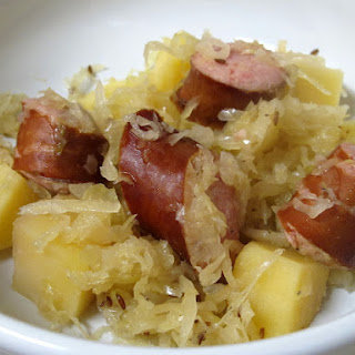Slow-Cooker Kielbasa w/ Sauerkraut & Potatoes