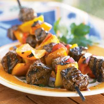 Steak and Bell Pepper Kabobs