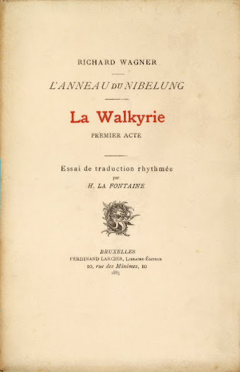 In 1885 he published the first French translations of Die Walkûre and Götterdamerüng, the prologue and first act of Der Ring des Niebelungen.