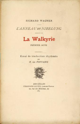 In 1885 publiceert hij een eerste Franse vertaling van Die Walküre en Götterdämmerung, de proloog en de eerste acte van Der Ring des Nibelungen.