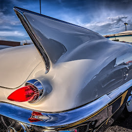 Caddy Fin by Ron Meyers - Transportation Automobiles