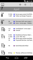 Screenshot of Agenda Calendar