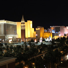 took the pix from Treasure's Island Hotel & Casino rooftop parking lot  Las Vegas, Nevada by Chy Freud - City,  Street & Park  Skylines