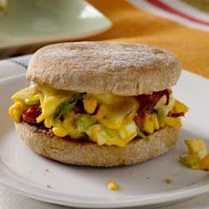 Egg Salad, Cheese and Bacon on Toasted English Muffins