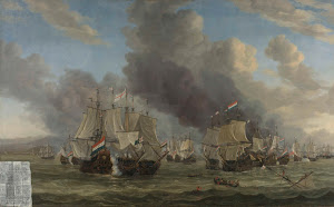 RIJKS: Reinier Nooms: The Battle of Livorno 1664