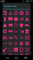 Screenshot of Stamped Pink Icons