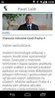 Screenshot of Praha 4 v mobilu