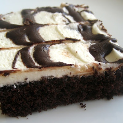 Drizzled Dark Chocolate Sheet Cake