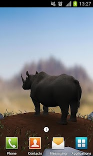 Save The Rhinos Live Wallpaper - screenshot