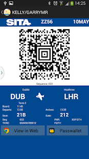 Boarding Pass API Sample - screenshot