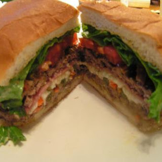 Muffuletta Stuffed Burger
