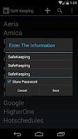 Screenshot of SafeKeeping