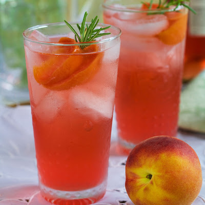 Rosemary Peach Spritzer