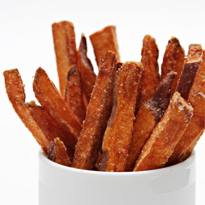 Hand-Cut Sweet Potato Fries with Cilantro-Lime Aioli