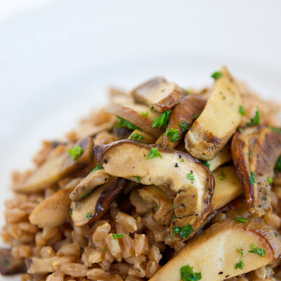 Farro and Porcini Mushrooms (farro con funghi)