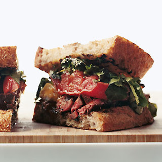Rib-Eye and Roasted-Tomato Sandwiches