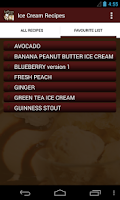 Screenshot of Ice Cream Recipes
