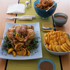 Roast Capon with Lemon and Thyme