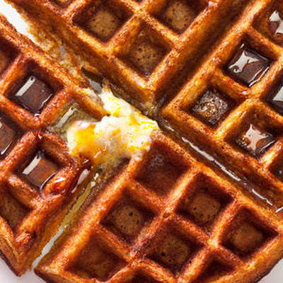 Gingerbread Waffles with Vanilla Bean–Orange Butter