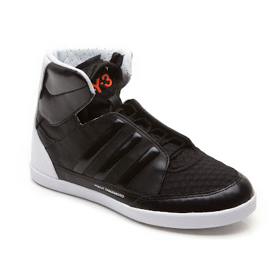 Y-3 Black and White Branded High Top TRAINER