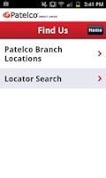 Screenshot of Patelco Mobile Banking