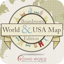 Boardroom World & USA Map