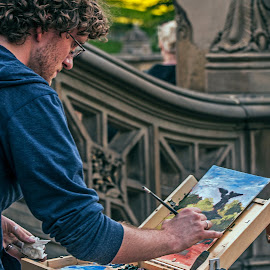 The Painter by Jil Norberto - People Street & Candids ( paint, brush, case, painter, man,  )