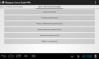 Screenshot of Glasgow Coma Scale