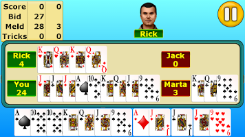 Screenshot of Pinochle