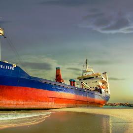 huge vessel by Celito Inguillo - Transportation Boats ( ship, boats, seascape, transportation, landscapes )