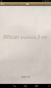 IRIScan Anywhere 3 Wifi - screenshot