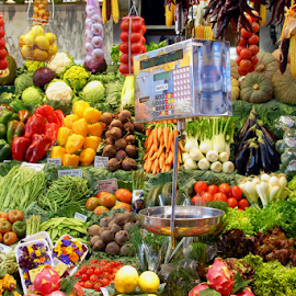Barcelona Market by Antonio Amen - City,  Street & Park  Markets & Shops ( balance, fruit, market, vegetables, barcelona )