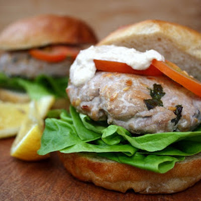 Lemon And Horseradish Tuna Burgers