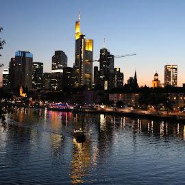 Frankfurt am Main (Skyline) by Danny Mix - City,  Street & Park  Skylines
