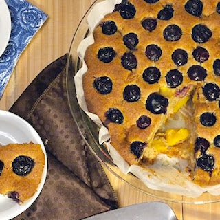 Whole Wheat Blueberry Peach Cake