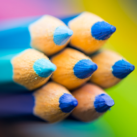 Blue Color Pencils by Chin KC - Artistic Objects Education Objects ( wood, bright, tool, college, palette, equipment, yellow, tip, draw, colour, macro, colourful, pink, isolated, orange, creative, spectrum, colors, art, white, paint, pencil, crayons, rainbow, crayon, concept, coloured, colorful, set, object, education, creativity, drawing, multicolored, vector, colored, office, sharp, green, instrument, pen, red, school, wooden, blue, color, background, group, design, pencils,  )