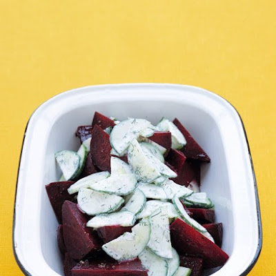 Grilled Beets with Dilled Cucumbers