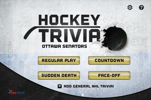 Hockey Trivia-Senators