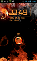 Screenshot of Fire AVEEX GO Locker Theme